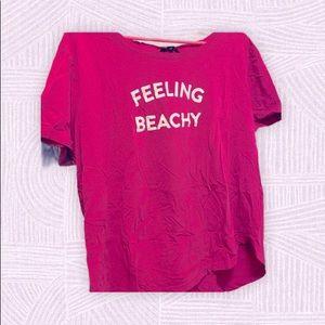 ⭐️1 FREE item w/bundle George Feeling beachy tee L
